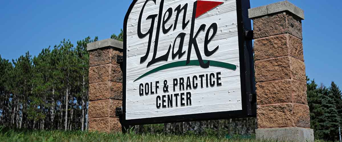 Glen Lake Golf and Practice Center monument sign